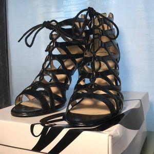 Nine West lace up heels